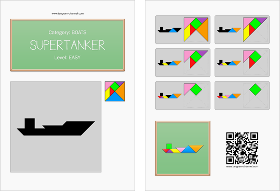 Tangram worksheet 272 : Supertanker - This worksheet is available for free download at http://www.tangram-channel.com