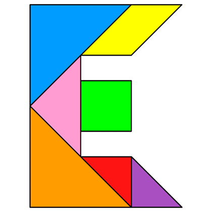 Tangram Letter E Solution 53 on Letter M Crafts
