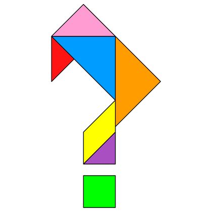 Tangram Question Mark