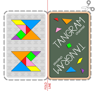 Tangram Snap Game to cut out - www.tangram-channel.com
