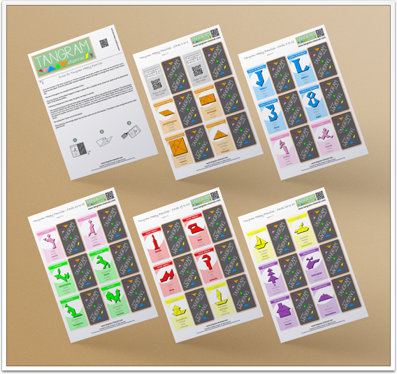 """Tangram Happy Families"" templates - www.tangram-channel.com"