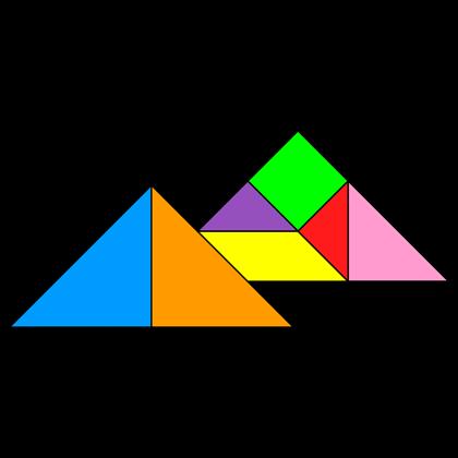 Tangram Egyptian pyramids
