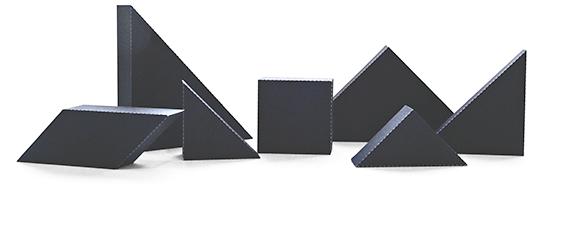 DIY - 3D Tangrams - Seven Black Tans