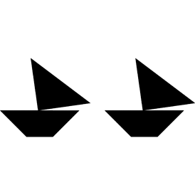 Tangram puzzle 31 : Two boats - Visit http://www.tangram-channel.com/ to see the solution to this Tangram