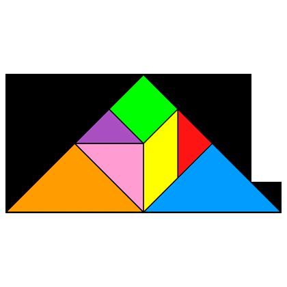 Tangram Triangle - Tangram solution #4 - Providing teachers and pupils ...