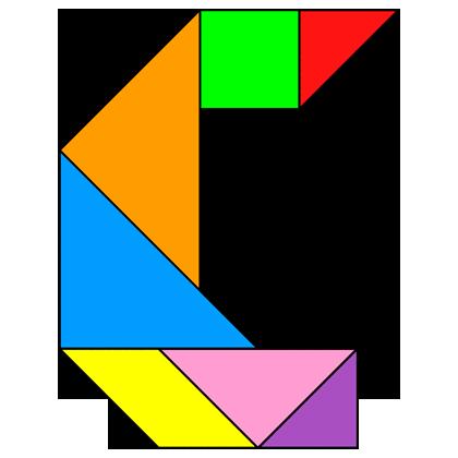 Tangram Letter C