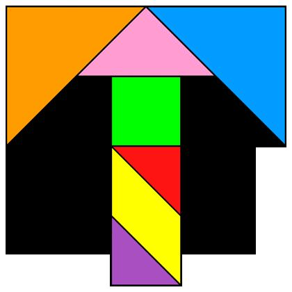 Tangram Letter T