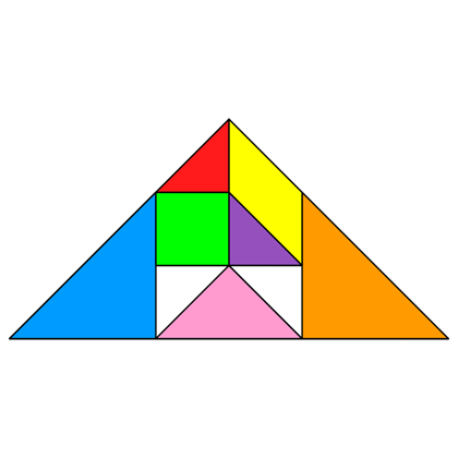 Tangram Incomplete triangle 4