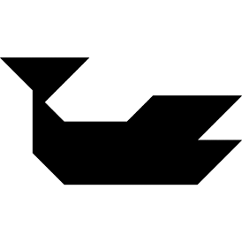 Tangram puzzle 92 : Whale - Visit http://www.tangram-channel.com/ to see the solution to this Tangram