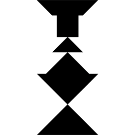 Tangram puzzle 42 : Candlestick - Visit http://www.tangram-channel.com/ to see the solution to this Tangram