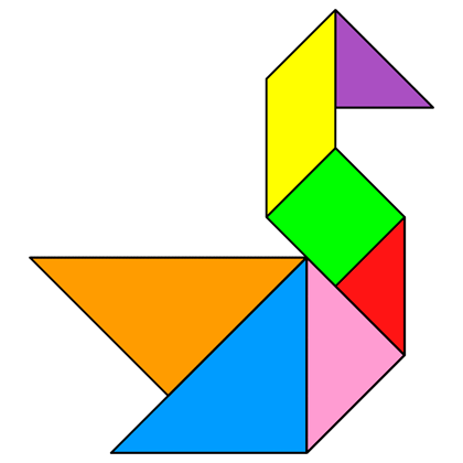 Tangram Swan - Tangram solution #16 - Providing teachers and pupils ...