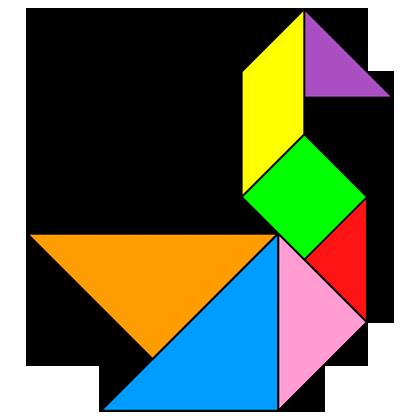 Tangram Swan Solution 16 on Ram Kindergarten Worksheets
