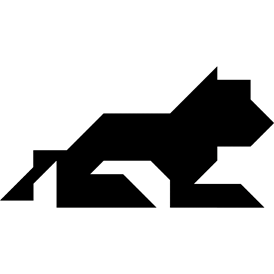 Tangram puzzle 102 : Lion - Visit http://www.tangram-channel.com/ to see the solution to this Tangram
