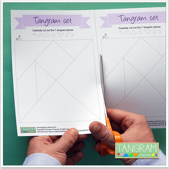 Two Printable Tangram Puzzles - Picture #2 - www.tangram-channel.com