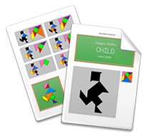 Printable Tangram Worksheet page