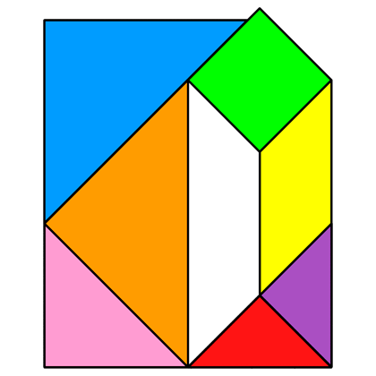 Tangram Letter D