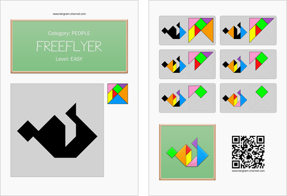 Tangram worksheet 257 : Freeflyer - This worksheet is available for free download at http://www.tangram-channel.com