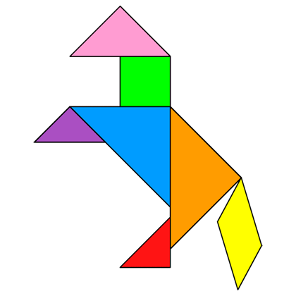 image about Printable Tangram Puzzle Outlines named Tangram Horse - Tangram strategy #23 - Selling instructors