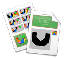 Printable Tangram Worksheet page