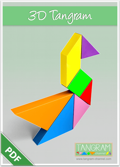 photo about Printable Tangrams Pdf Free known as 3D Tangram Printables - Marketing lecturers and college students with