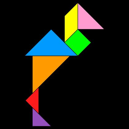 Tangram Heron