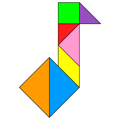 Tangram Musical note