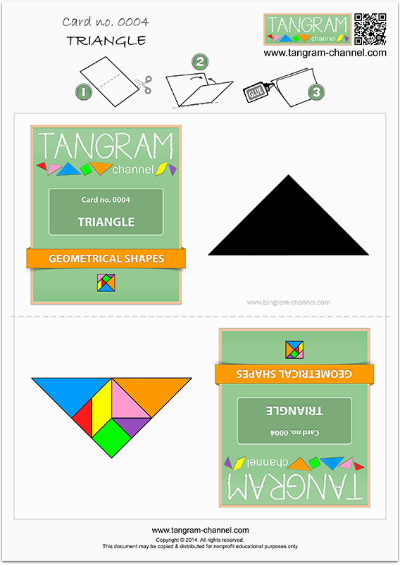 Tangram Trading Card no. 0004 : TRIANGLE