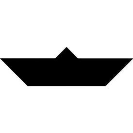 Tangram puzzle 38 : Boat - Visit http://www.tangram-channel.com/ to see the solution to this Tangram