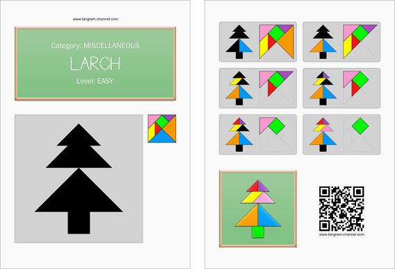 Tangram worksheet 273 : Larch - This worksheet is available for free download at http://www.tangram-channel.com