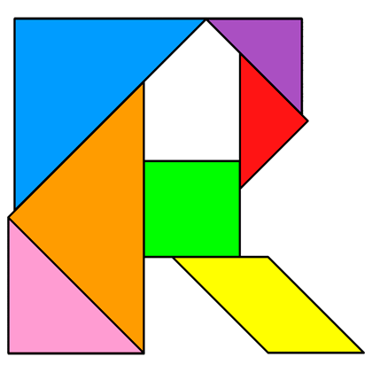 Tangram Letter R