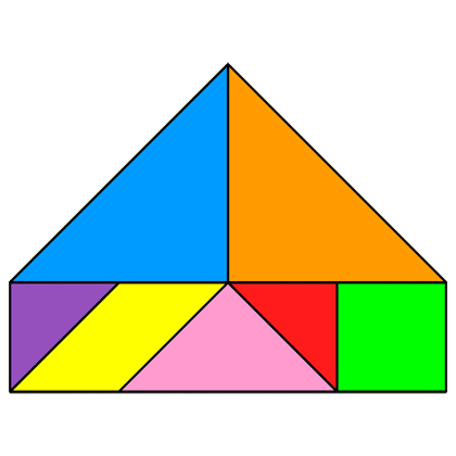 Tangram Pentagon - Tangram solution #208 - Providing teachers and ...