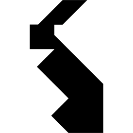 Tangram puzzle 2 : Rabbit - Visit http://www.tangram-channel.com/ to see the solution to this Tangram
