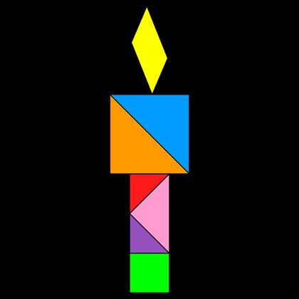 Tangram Olympic flame