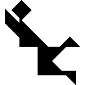 Tangram puzzle 36 : Goal keeper - Visit http://www.tangram-channel.com/ to see the solution to this Tangram