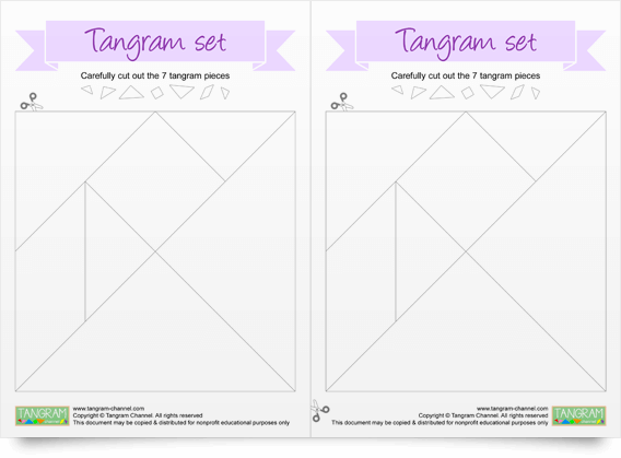 Two Printable Tangram Sets - Free Download - www.tangram-channel.com