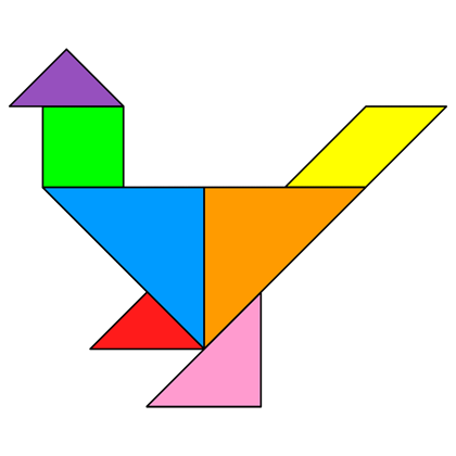 Tangram example of a chicken