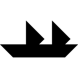 Tangram puzzle 10 : Sailboat - Visit http://www.tangram-channel.com/ to see the solution to this Tangram