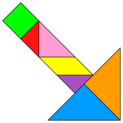 Tangram Puzzles Easy Easy Tangram Puzzles