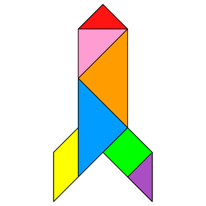 Tangram Rocket - Tangram solution #57 - Providing teachers and pupils ...