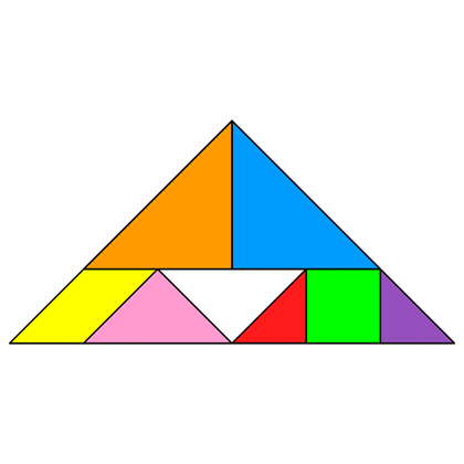Tangram Incomplete triangle