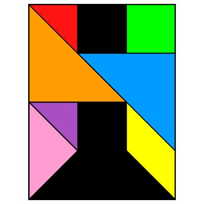 Tangram Letter H