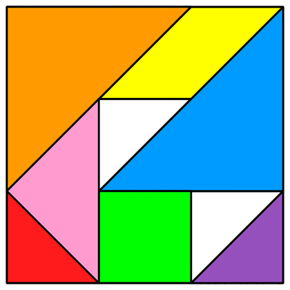 Tangram Incomplete square 6