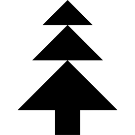 Tangram puzzle 41 : Fir - Visit http://www.tangram-channel.com/ to see the solution to this Tangram