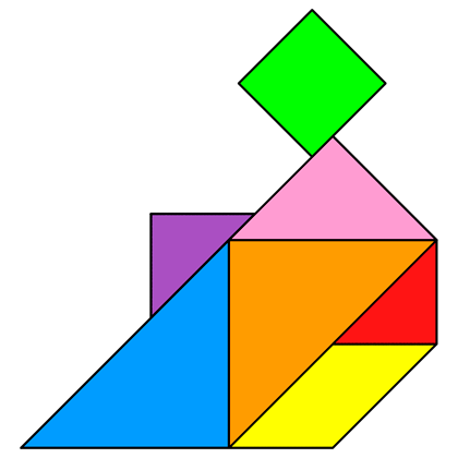 Tangram Be sitting