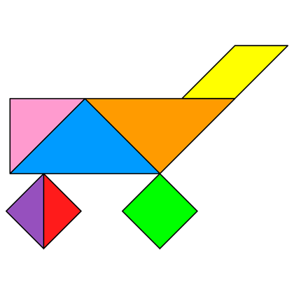 Tangram Shopping cart