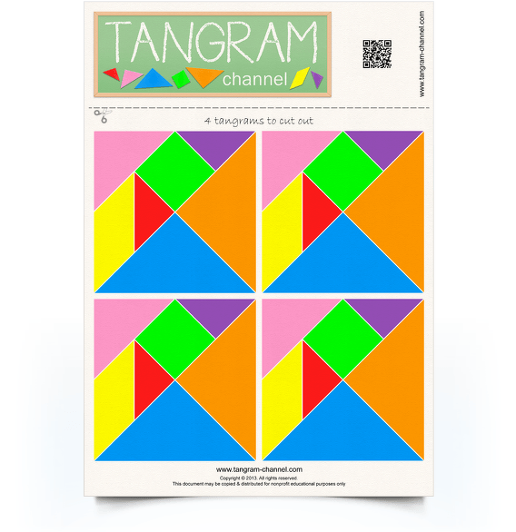 photo about Printable Tangram called Tangrams towards lower out - Offering lecturers and students with