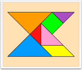 Tangram solutions - Geometrical shapes - www.tangram-channel.com