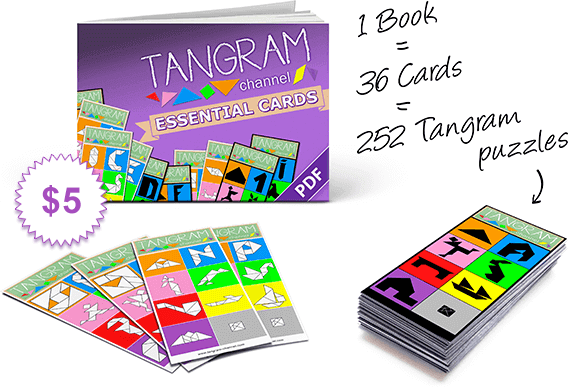 Tangram Channel Essential Cards are a perfect complement to your Tangram puzzle