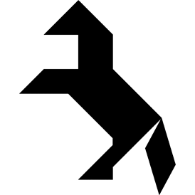 Tangram puzzle 23 : Horse - Visit http://www.tangram-channel.com/ to see the solution to this Tangram