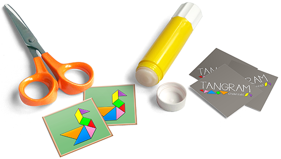 DIY - Tangram Memory Game : Materials
